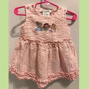 Disney Parks Baby Girl Dress Seer Sucker 18 Months